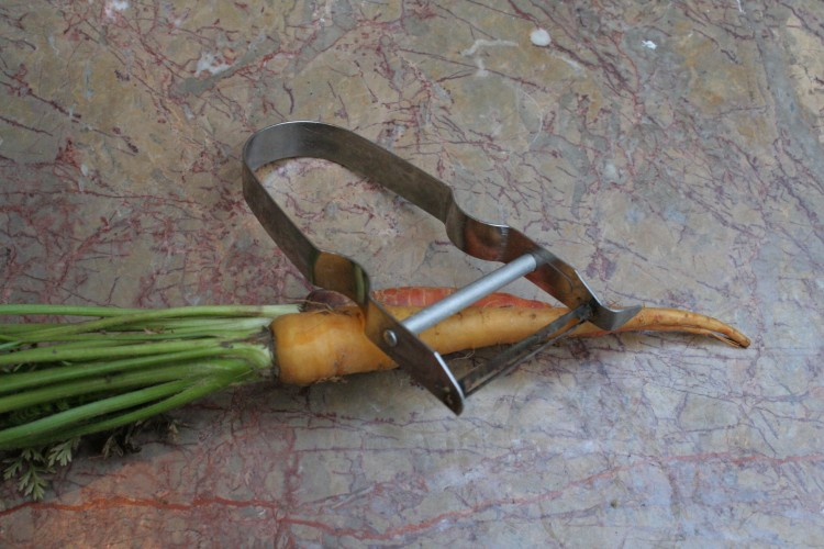 Simple, and perfect, vegetable peeler (with multi-hued carrots)