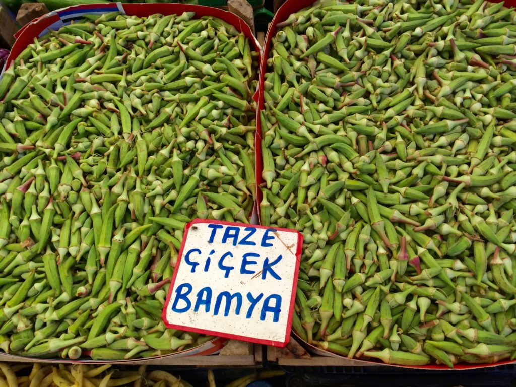 Bamya - okra, used in soups, fresh and dried