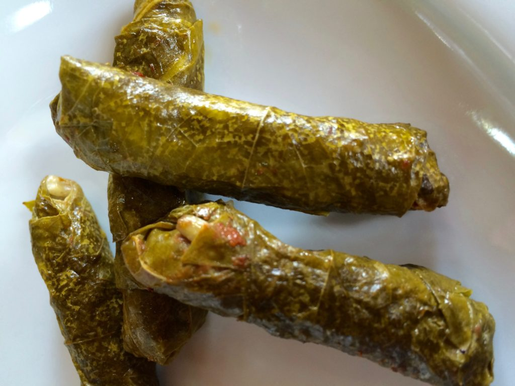 Perfect stuffed grape leaves, the size of a little finger