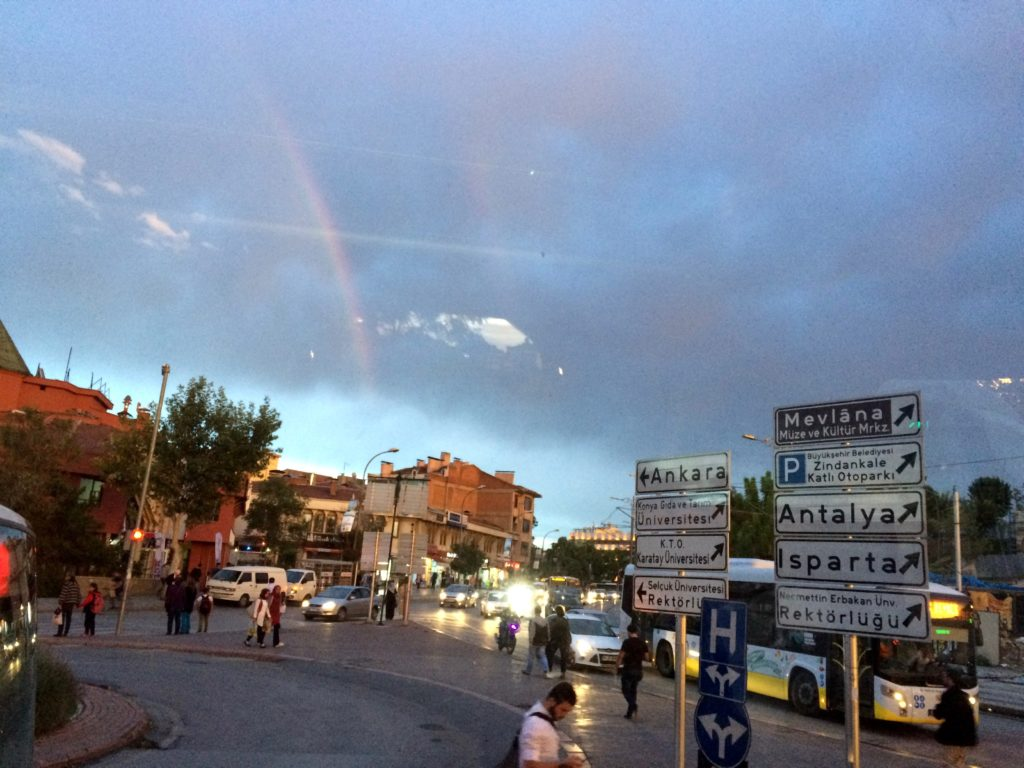 Rainbow over Konya