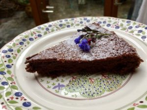 Flourless Chocolate Cake from the Grill