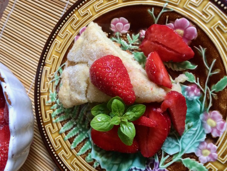 Strawberry Shortcake from the Grill