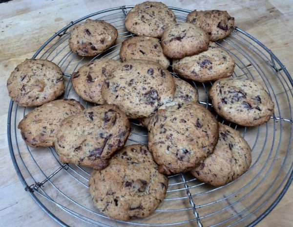 Remove the cookies from the oven and transfer them immediately to a cooling rack.