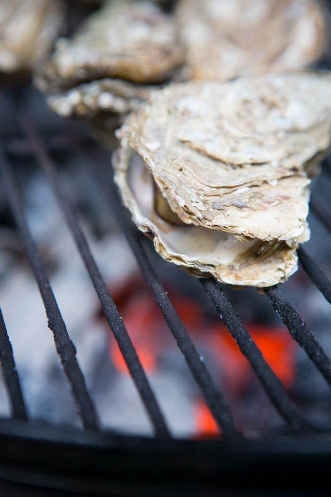 oyster on grill