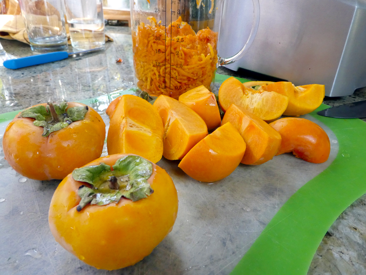 persimmons grated