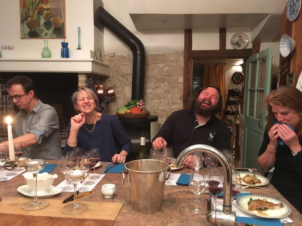 wine, food, friends