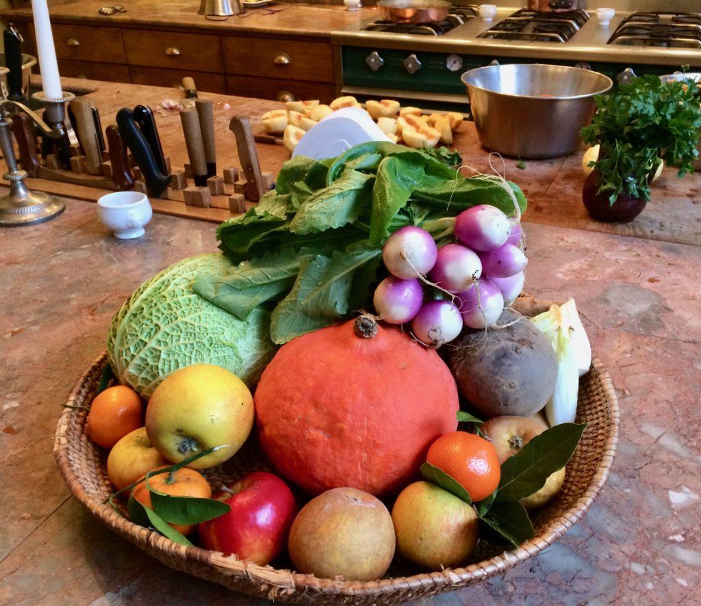 squash, apples, turnips
