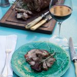 LEG OF LAMB WITH HERBS AND MUSTARD - GIGOT D'AGNEAU AUX AROMATES ET A LA MOUTARDE