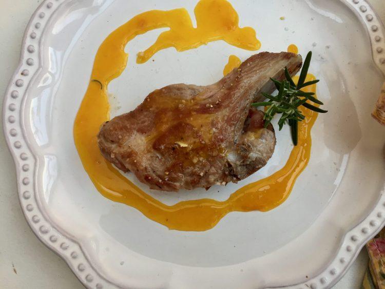 Lamb Chops with Simple Orange Sauce