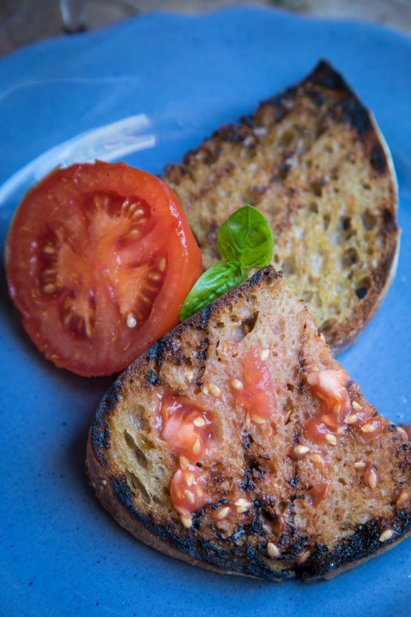 Grilled Bread with Smashed Tomatoes